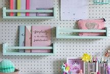 Pegboard & Pinboard Ideas / My board for lots of cool pegboard & pinboard ideas. Creative ways to make peg boards and organise your home, office, study, children's bedroom, craft items, tools, sewing accessories.