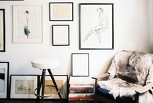 { galleries + collections + piles } / Gallery Walls, Collections of Things, and Perfect Piles.