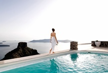 """Weddings / Making your special dream a perfect reality…  Many claim that the """"magic"""" energy of Santorini comes from the volcano itself and imbues everything. It's no wonder then that so many couples from around the world choose to travel here to get married."""