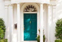 { front doors } / Amazing, beautiful, colorful, dazzling front doors.