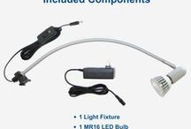 C-700 LED Banner Stand Light / The best LED Banner Stand Light, and it run on both battery and plug-in power!