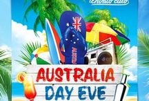 Australia Day Eve Flyers and Posters.