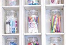 Organizing my CRAFTS / DIY ideas on how-to decorately organize & store your crafts / by Organizing my O.C.D.