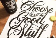 Font Typography and Lettering Inspirations / Inspirations workflow