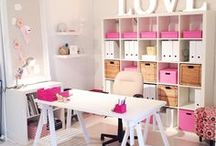 Craft room / Inspiration for creating the perfect creative space.  Sparklesoflight76.blogspot.co.uk
