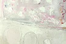 Abstract - #3: Feminine * Soft * Pink / The men in my life say pink ????? - There are so many beautiful paintings in feminine colours - here is a small collection