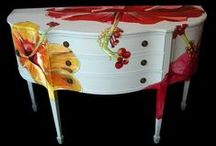 decorative painted furniture and things