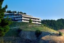 Ananti City Resort, Τrikala / The brand new Ananti City Resort is built on the top of a hill, close by the city of Trikala, with panoramic view that embraces the plain of Thessaly and composes a new entry that is updating the meaning of hospitality in the region.