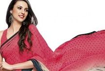 Drape it easy! / Celebrate the occasion called life with IndusDiva's Bollywood inspired Sarees.