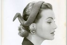 Vintage Hat Wear / Vintage Women's hat fashion from the 1930s to the 1960s.