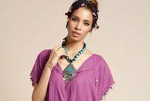 Otantik Fethiye Tunik Koleksiyonu / Rengarenk boncuklarla detaylandırılmış, sade ve özgün.