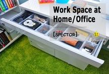 Work Space, Desktop at Home / Office. Organize