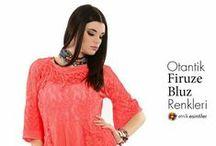 Otantik  Firuze Bluz Renkleri 2015 / bluz, tunik modelleri