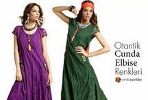 otantik Cunda Elbise Modelleri