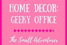 Home Decor: Geeky Office / All the novelty items that a geeky and nerdy office needs!