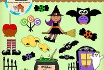 halloween themed Clipart ,Papers, activities, and more!