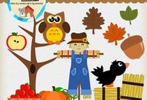 Fall themed Clipart, Papers, activities, and more!