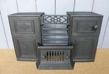 Reclaimed Stoves / UKAA sell a large range of reclaimed antique cast iron stoves. Stoves were very popular in the Victorian and Edwardian times and they were made form cast iron and painted black. People would have burnt wood, coal and peat on them. They would have been a very practical item the majority of the stoves were quite plain looking as they were more of a utilitarian item. The most popular and quality makers of stoves was the Turtle stove. Stoves not only heated the room but you could also boil a kettle.