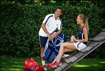 Club Collection / Sergio Tacchini has created a special collection exclusively dedicated to the Tennis Clubs in Europe and the rest of the world. Using the brand's signature colours blue and red, and with the main part in white as tradition in the most prestigious Tennis Clubs in the world, the collection includes men's, women's and junior's lines. The range is rounded off with the cotton training line and accessories such as caps, socks and towels.
