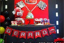 Cumpleaño Cars Rayo Mc Queen / Decoración de Cumpleaños de Cars, centro, banderín, piñata, caja para Regalos.
