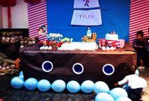 Cumpleaños  Jack y los piratas https://m.facebook.com/creacionesfestivas.j?_rdr / Cumpleaños con el tema de Jack y los Piratas Decoración de me mesa y sala y muchos complementos para la fiesta!