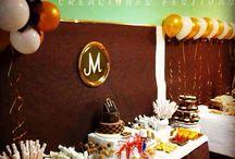 Decoración de mesa de dulces, Candy bar / Mesa de dulces, mesa de canapes y piñata!