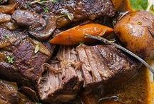 Beef Recipes / We don't eat beef often, but when we do, it's gonna be good!  Whether it's a bombastic burger or basted ribs, savory roasts or grilled to perfection rib eye steaks or ground chuck blended with our favorite taco seasonings, it makes a hearty meal!