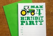 Green Tractor Themed Birthday