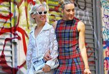 street fashion / Fashionable on the street.Latest trend and amazing fashion sense.