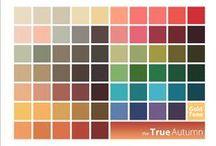Autumny Spring palettes=Shaded (Warm/True) Spring bridging Pure (Warm) Autumn Palettes