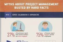 Myth Busting! in Project Management / You might hear a lot of misconceptions about project managers today: they're buried in paperwork, run constant lengthy team meetings, and so on. However, researches and stats prove different. Based on the results of multiple studies, this infographic from Wrike, a popular provider of task management software, busts five most common project management myths and shares a couple of useful productivity hacks along the way.