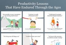 Productivity Proverbs&Posters / Some productivity lessons have endured through the ages for a reason. They work. We have put together a collection of productivity proverbs and backed them up with interesting stats. Share them with your team mates and friends to boost their morale and help them achieve more!