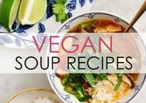 Vegan Soup Recipes / Comfort food for the soul! Tasty vegan soup recipes that will warm you on the coldest and most snowy days. #yum