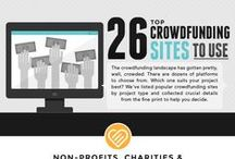Crowdfunding Knowledge / crowdfunding (n.) — the practice of funding a project or venture by raising many small amounts of money from a large number of people, typically via the internet. Check out these pins for helpful articles, infographics, and resources.