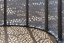 Perforated Art / perforated metal, perforated facades, perforated interior elements, perforated lighting