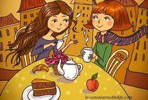 Café y te personajes