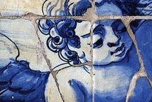 azulejo, maiolica, metlah, delfts blauw