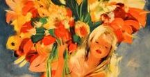 Florals / Colorful flowers from the realm of painting, decorative arts and more.
