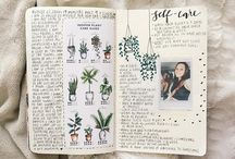 journal / bullet journal + fonts