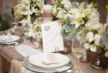 Wedding Tablescapes / by Miss Mary (Un mariage dans la grange)