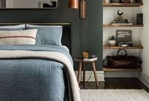 Bedroom / Bedroom decor ideas. I love a relaxed bedroom with modern accents and luxurious materials.