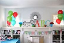 Ainsley's 3rd birthday / Cat in the Hat theme / by Sara Himm