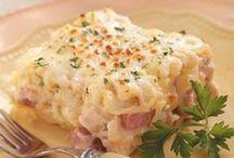 Pasta with ham / Pasta recipes with ham