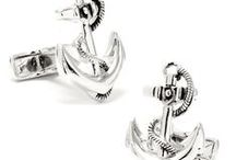 Anchor Cufflinks  / It is Nautical Silver Anchor Cufflink. All hands on deck! Whether you're a sailor by trade or a member of the United States Navy, you'll love these Nautical Silver Anchor cuff links. Crafted by hand and fashioned as a traditional anchor complete with a double-knotted rope, each cuff link is rhodium-plated and comes with a bullet back closure. Each cufflink was polished by hand for an impressive shine.