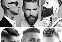Men's haircut / Cortes masculino e estilos de barbas! Men's cut and Beard style!