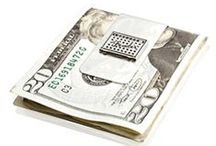Money Clips / An elegant and attractive money clip is a must-have for the well-dressed man. So much simpler than a wallet, the money clip offers the perfect way to carry cash and plastic, and keep it all together in style. Classic stainless steel money clips come in many styles from basic to the elegant double stripe money clip. Army logo money clips, Air Force and Coast Guard money clips are available for the military man.