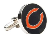 """Chicago Cufflinks / If you're from the """"windy city"""" then you know that if aren't wearing a proper pair of cufflinks, your sleeves will blow all over the place. Chicago is home to sprawling buildings, Oprah Winfrey, Chicago-style pizza, and rowdy sports fans. Show your appreciation for this great American city with a pair of Chicago Cufflinks"""