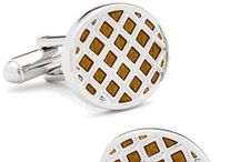 Amber Cufflinks / Amber is a unique stone that has a warm and intriguing appearance; the Amber Cufflinks offered by Cufflinksman showcase the alluring, natural stone and pair it with the gleam of high-polished silver.