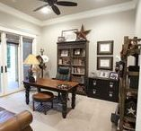 Texas Home Office & Study / Everyone in these modern Texas times need a place to work in the home, or surf and shop on the Internet. On this board we are highlighting some of our more popular home office and studies, for both the man and the woman of the home!