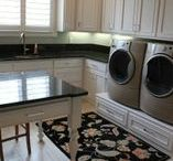 Laundry CAN Be Fun! / Laundry rooms don't have to be only functional. They can be bright, and fun, and multi-purposed. Many of our clients combine the functionality of the laundry room with a home office, or craft room.